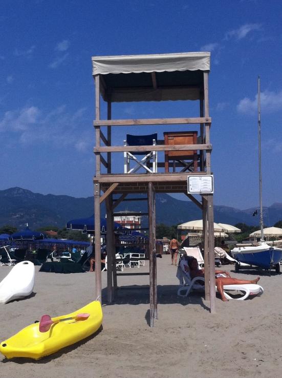 Beach in Viareggio