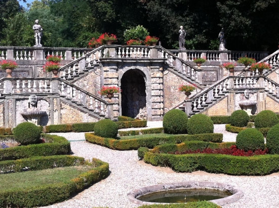 Landscaped gardens at Villa Torrigiani